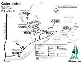arizona state cgrounds map arizona state parks maps