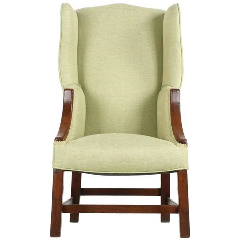 wingback armchair unusual george iii diminutive mahogany wingback armchair