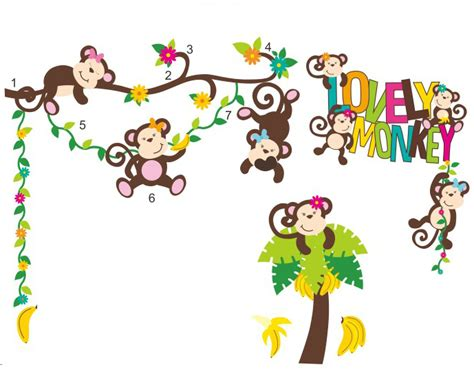Wall Art Stickers For Baby Nursery compare prices on monkey banana tree online shopping buy