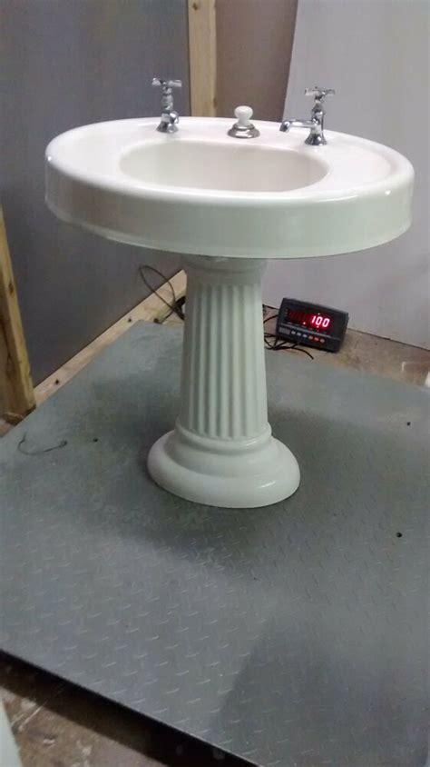 Cast Iron Pedestal Sink by Antique Pedestal Cast Iron Porcelain Oval