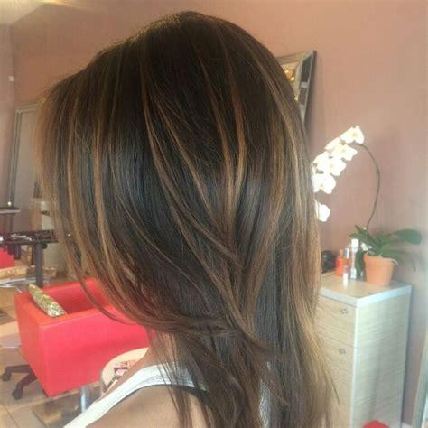 partial caramel highlights caramel balayagd on dark brown hair balayage ombre