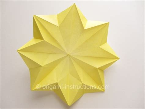origami 8 petal flower folding