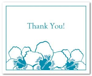 Thank You Note Illustrator Template Printable Hibiscus Thank You Card Template