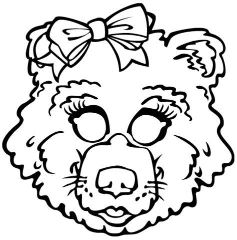 printable masks for goldilocks and the three bears free coloring pages of goldilocks mask