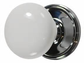 white porcelain door knob polished chrome plate