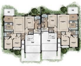 one level duplex house plans