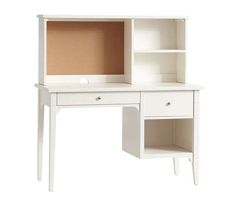 pottery barn desk kids morgan large desk hutch pottery barn kids