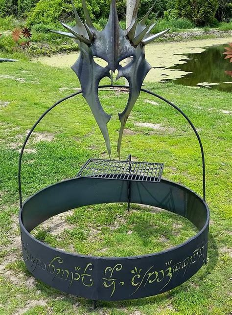 cing firepit amazing pit in the form of the witch king of angmar mordor the land of shadow