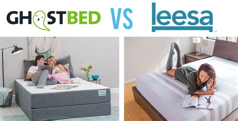 Bed Vs by Ghostbed Vs Leesa Mattress Comparison