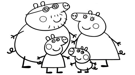 peppa pig cartoon coloring pages family coloring pages page image clipart images grig3 org