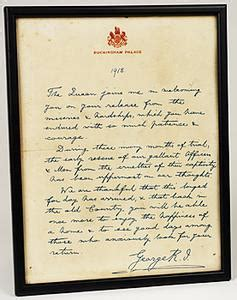 up letter to king george exle framed letter from king george v to all returning