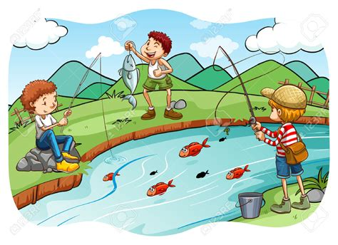 fishing clipart fishing clipart child fishing pencil and in color