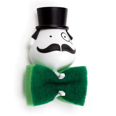 Mr. Sponge   Bow Tie Scrub Sponge Holder   The Green Head