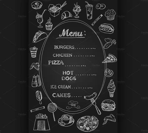 free chalkboard menu template 24 chalkboard menu templates free sle exle