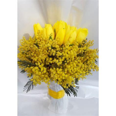 bouquet mimosa e fiori foto bouquet mimosa e tulipani masciandaro fiori e piante