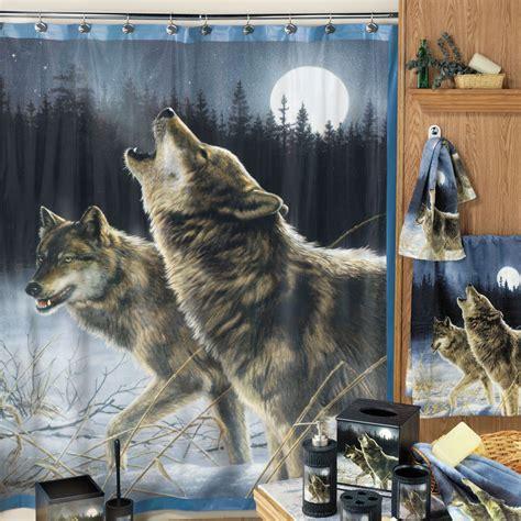 howling wolf shower curtain  hayneedle