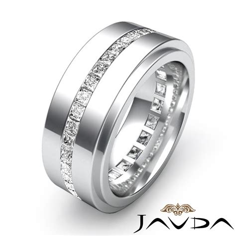 mens eternity wedding band channel set princess