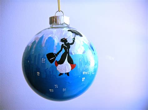 mary poppins london inspired christmas ornament