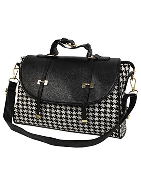 Houndstooth Shoulder Bag houndstooth purses and handbags we