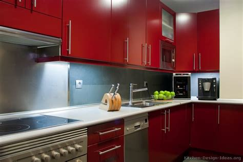 White Kitchens Ideas by Pictures Of Kitchens Modern Red Kitchen Cabinets