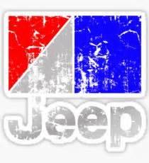 amc jeep logo amc stickers redbubble