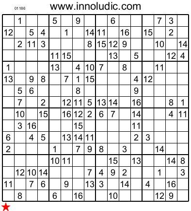 printable sudoku 16x16 numbers super sudoku