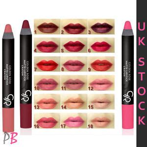Shades Of Red List by Golden Rose Crayon Matte Lipstick All Shades Red Pink
