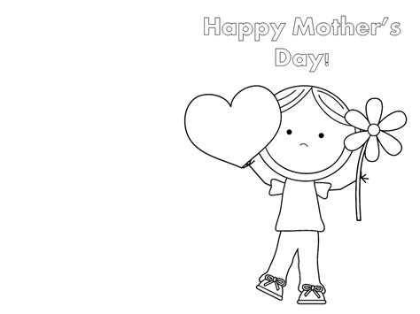 mothers day card templates to color free 24 printable s day cards baby