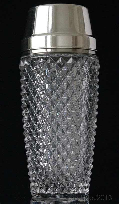 Barware Accessories by Shaker Glass Chrome Vintage Late 1960s Martini
