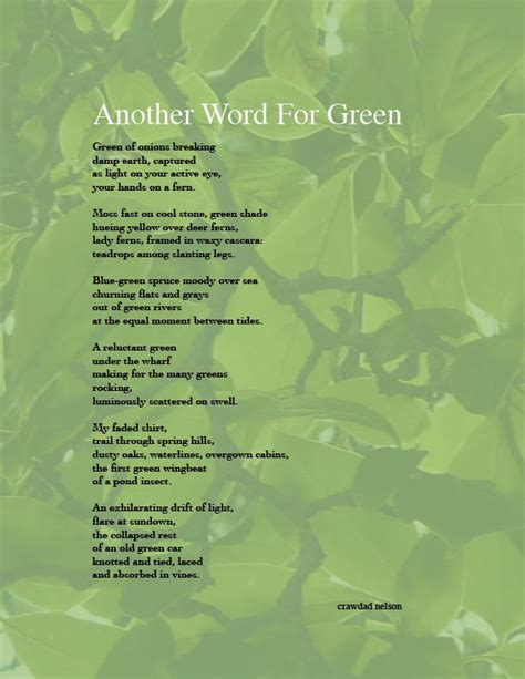 another word for another word for green by crawdad on deviantart