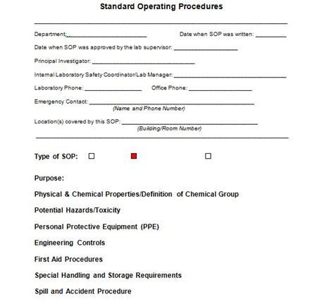 written procedure template 37 best standard operating procedure sop templates