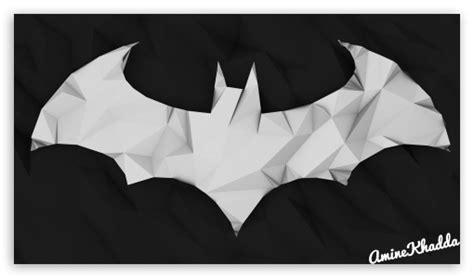 wallpaper batman low poly batman arkham origins low poly logo 4k hd desktop