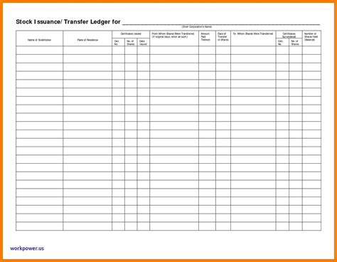 5 Stock Ledger Excel Ledger Review Stock Transfer Ledger Template Excel
