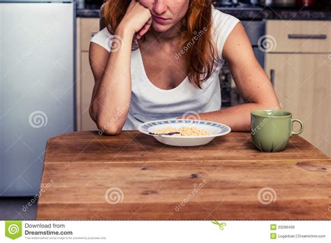 doesn t want to eat doesn t want to eat cereal royalty free stock images image 33286439