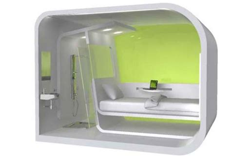 micro hotel rooms and fly micro hotel concept