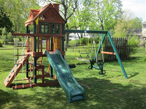 swing sets for sale kmart childrens swing set vinyl multideck classic play set with