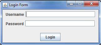 login form using java swing source code java code simple login form