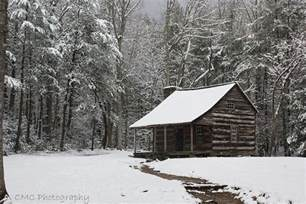 snowed in cabin this was in cades cove this is the