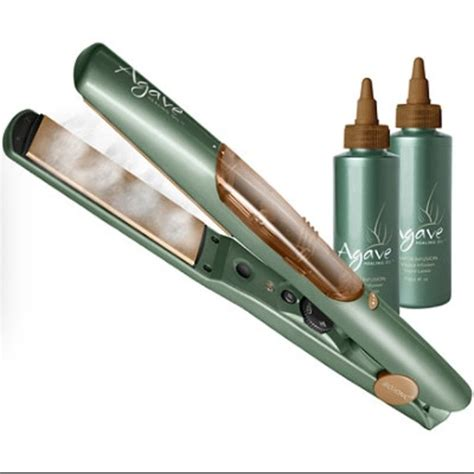 agave hair straightener 33 off agave other new agave oil healing vapor flat