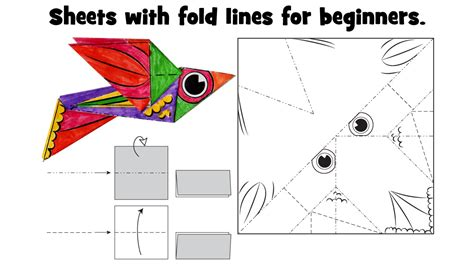 Paper Folding Activity For - easy origami for paper folding crafts for children