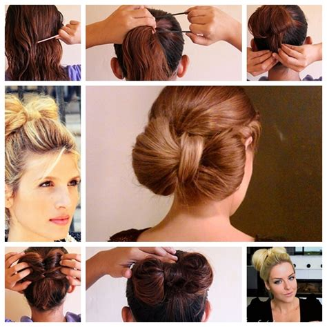 easy to make bun hairstyles wonderful super easy bow bun for short hair style