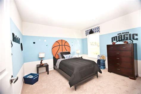 basketball themed room basketball themed boy s room highland homes remington ii model home in davenport florida