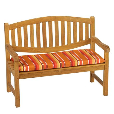 outdoor cushions bench home decorators collection sunbrella dolce mango outdoor