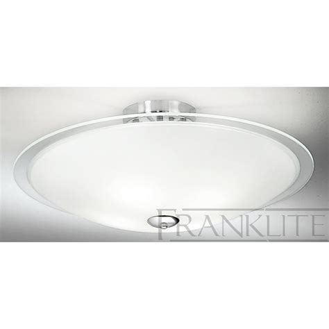 4 ceiling lights franklite fl2212 4 dysk chrome flush ceiling light
