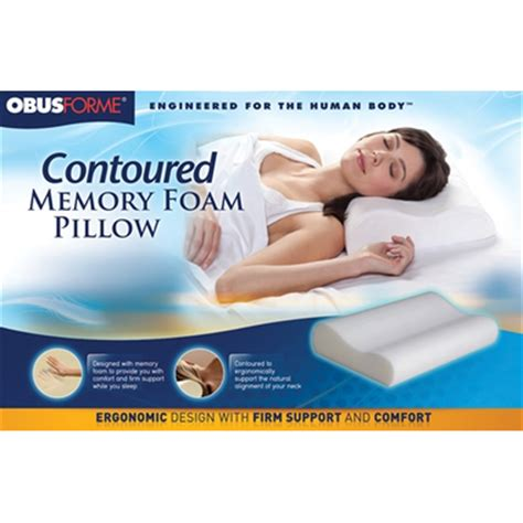 Memory Foam Pillow Canada by Buy Obus Forme Contoured Memory Foam Pillow At Well Ca