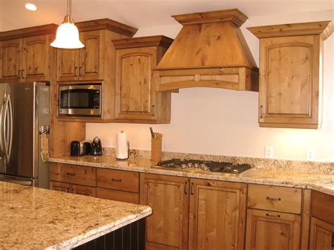 lec cabinets alder kitchen with bead board island