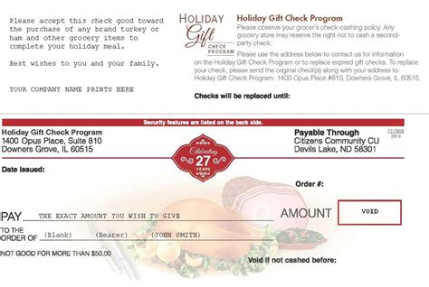 holiday gift check program  gifts  employees easier   ordering