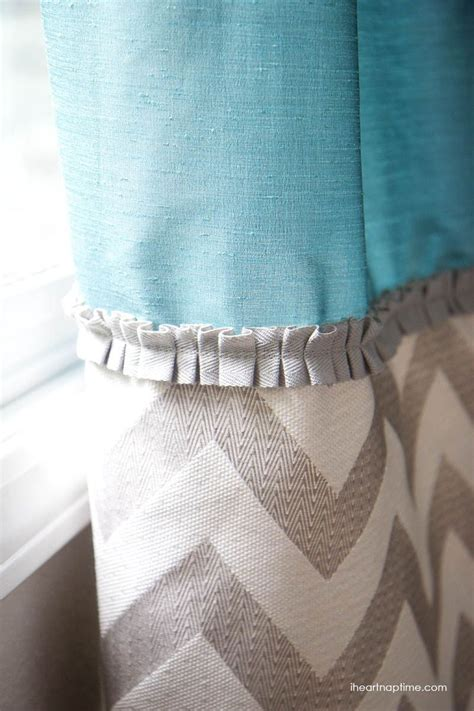 sewing sheer fabric curtains diy no sew two tone curtains curtains two tones and