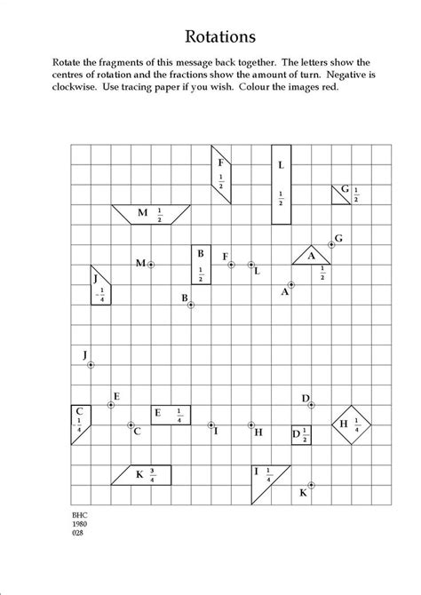 Transformation Geometry Worksheets Pdf by Maths Transformations Worksheet Transformations Package