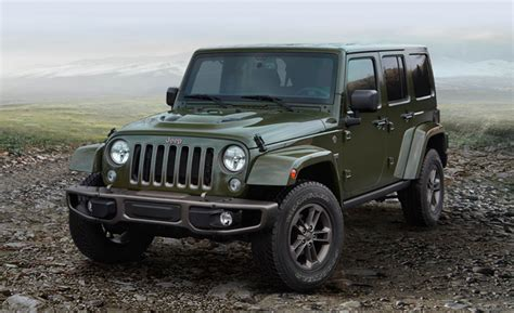 bronze jeep 75th anniversary jeep models suit up in green and bronze